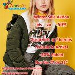 Winter Sale -30% – 50% Zusätzlich -20%